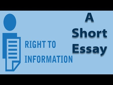 Видео An essay on right to education
