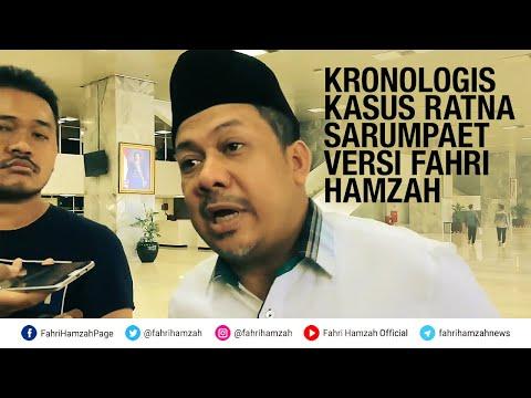 Kronologis Kasus Ratna Sarumpaet Versi Fahri Hamzah