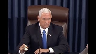 BOOM:Vice President Mike Pence makes Crucial tie Breaker Vote on ObamaCare