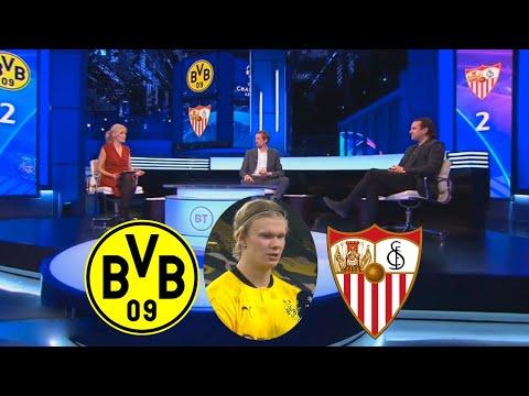 Dortmund Vs Sevilla 2-2 Erling Haland Two Goals Reaction⚽⚽ Owen Hargreaves \u0026 Peter Crouch Analysis