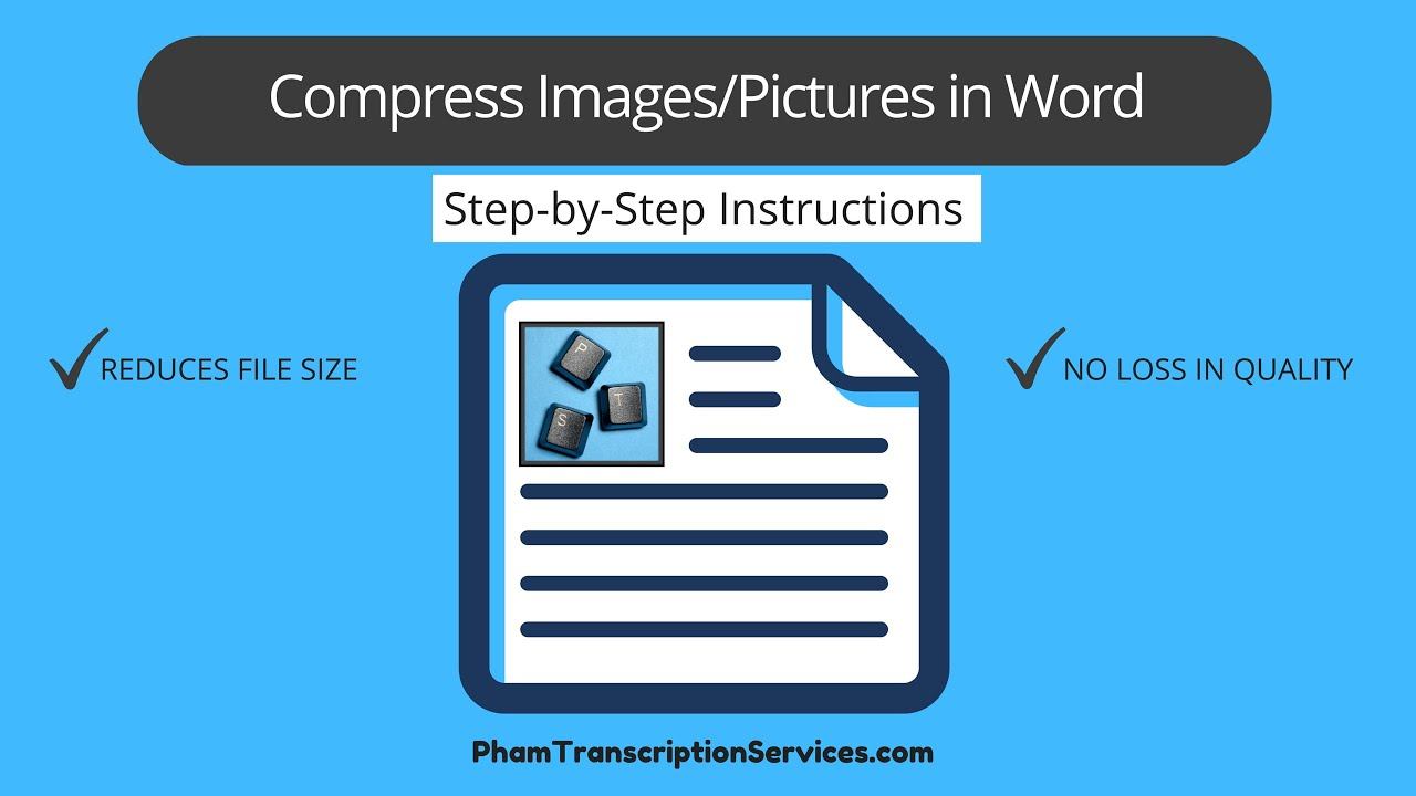 Compress Image Picture In Word Document To Reduce File Size