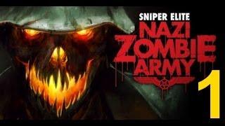 Sniper Elite Nazi Zombie Army прохождение сквозь армию тьмы зомби нацистов. Часть 1 Деревня мертвых