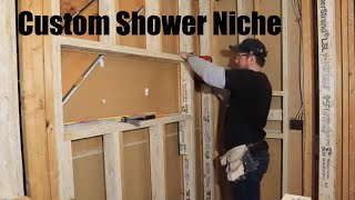 How to build a shower niche. Bathroom design idea. Bathroom Remodel. Custom Niche