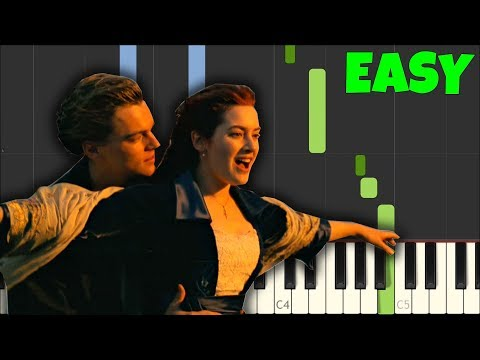 My Heart Will Go On (Titanic) - Celine Dion [Easy Piano Tutorial] (Synthesia/Sheet Music)