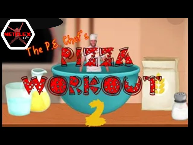 PE Chef S11E3: 🍕 Pizza Workout 2 🍕 (Warm up, Brain Break for Kids)