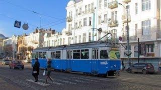 ШВЕЙЦАРСКИЙ Винницкий трамвай \ Swiss Schweizer Straßenbahn in Vinnitsa. Tramway suisse