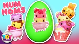 giant surprise egg num noms blind box go go cafe playground toy review   best christmas gift 2015