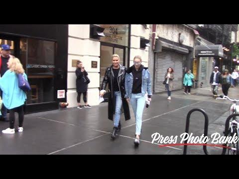 Gigi Hadid and Yolanda Foster stroll to IMG Models agency in New York City