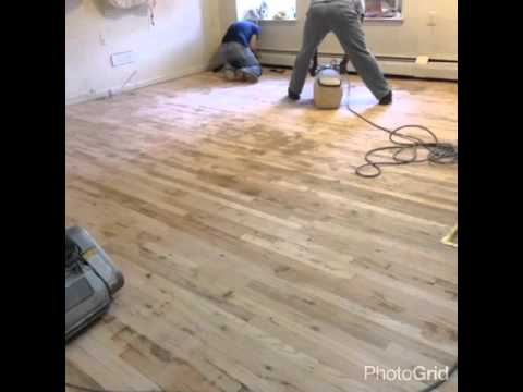 Wood Floor Sanding Vct Removal Youtube