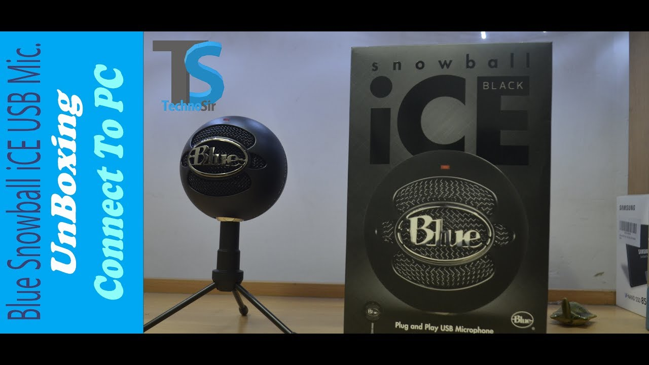 usb mic blue snowball ice unboxing how to connect best mic for youtubers youtube. Black Bedroom Furniture Sets. Home Design Ideas