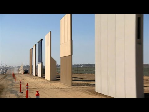 Models offer glimpse into President Trump\'s proposed border wall