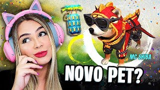 🔴 FREE FIRE - AO VIVO 🔴 Chegou NOVO PET no Free Fire? MC SHIBA