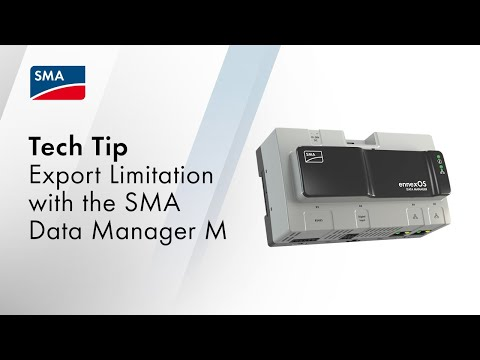 Export Limitation with the SMA Data Manager M