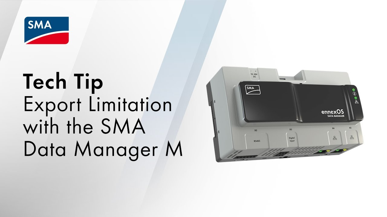 Download Export Limitation with the SMA Data Manager M