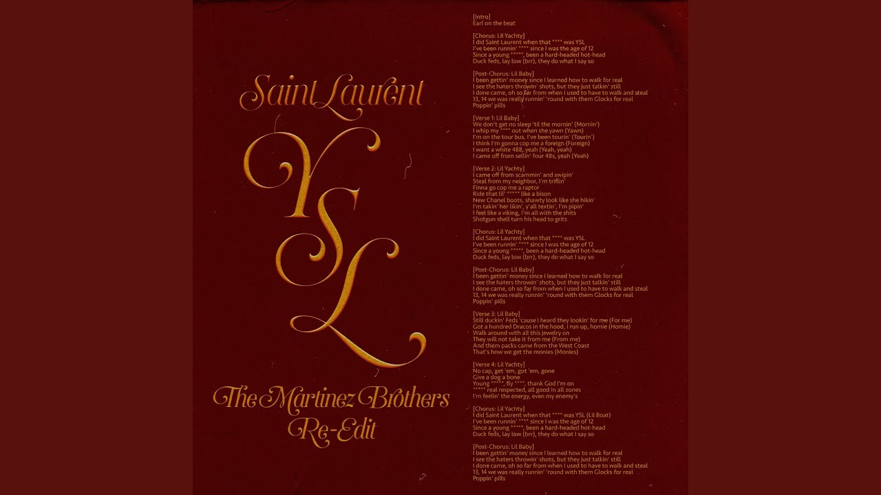SaintLaurentYSL (The Martinez Brothers Re-Edit)