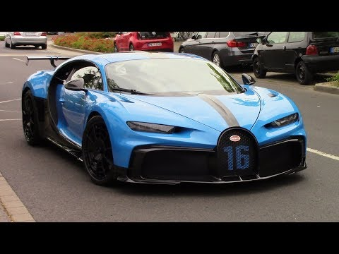 Bugatti Chiron Pur Sport Driving On The Street