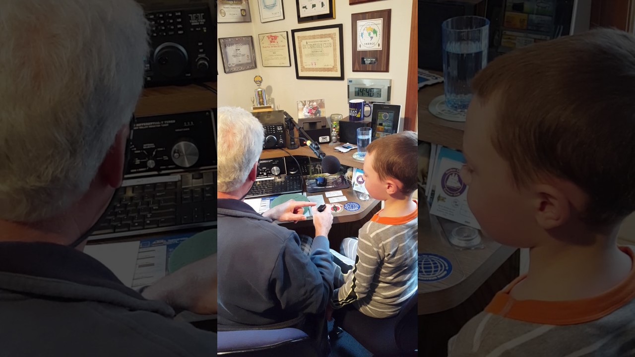Cole's first ham radio contact with N1DC