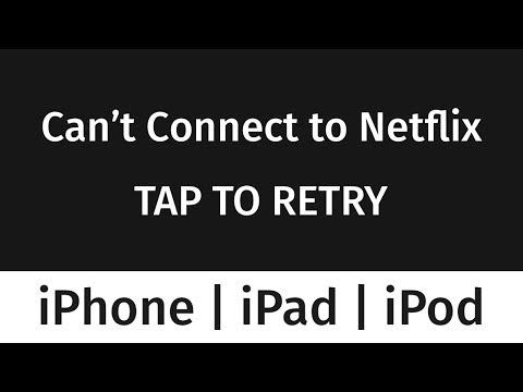 Can't Connect To Netflix - FIX - IPhone IPad IPod | Error Message From Netflix App Fix
