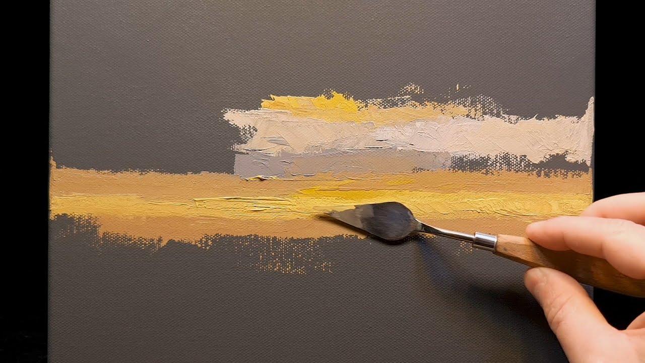 Enter Twilight - Palette Knife   Brush - Oil Painting