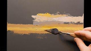 Enter Twilight - Palette Knife | Brush - Oil Painting