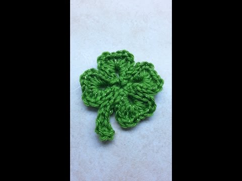 CROCHET How to #Crochet SHAMROCK St. Patricks Day 4 leaf clover #TUTORIAL #198 LEARN CROCHET