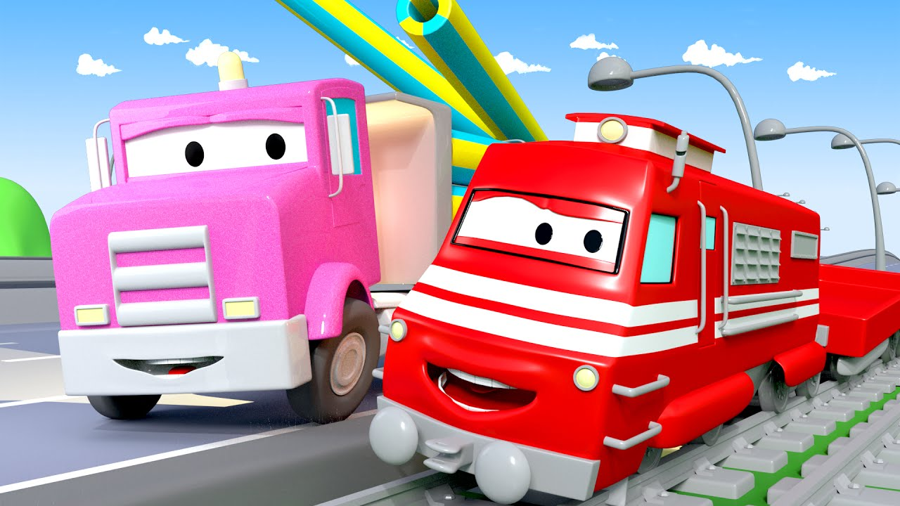 flavy-the-flatbed-truck-troy-the-train-in-car-city-l-cartoons-for-kids