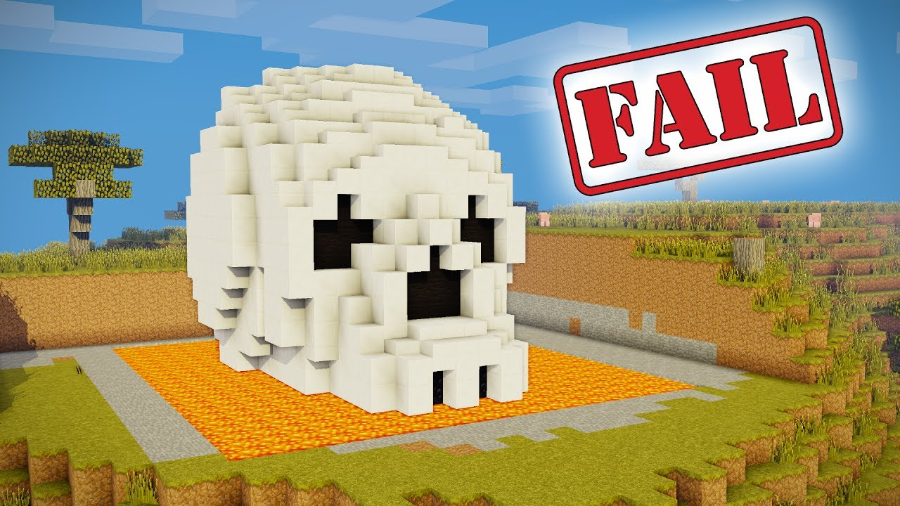 Minecraft Tutorial How To Make A Skeleton House Scary