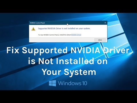 How to Fix Supported NVIDIA Driver is Not Installed on Your System