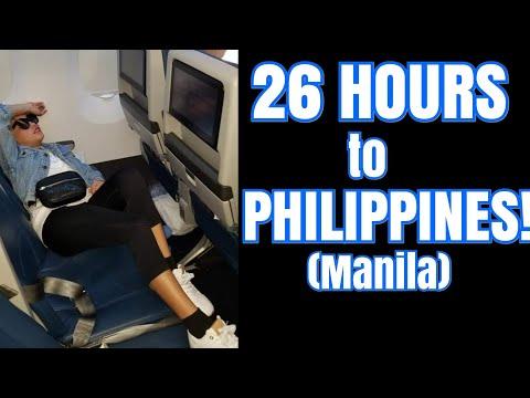 FLYING TO MANILA PHILIPPINES   26 HOURS FLIGHT!