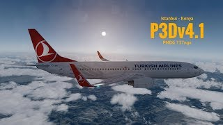 [P3Dv4.1] Istanbul (LTBA) - Konya (LTAN) | Pmdg 737ngx  | TURKISH AIRLINES | VATSIM