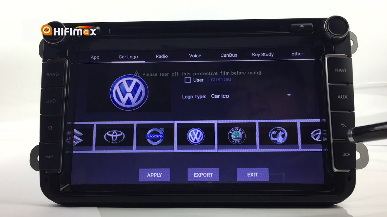 Factory Setting interface for S190 Android Car Head unit