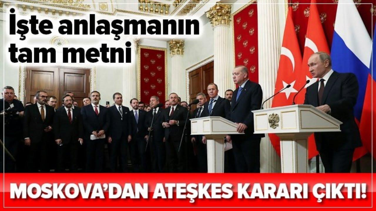Başkan Erdoğan ve Putin Zirvesinden, Ateşkes Kararı Çıktı! / A Haber