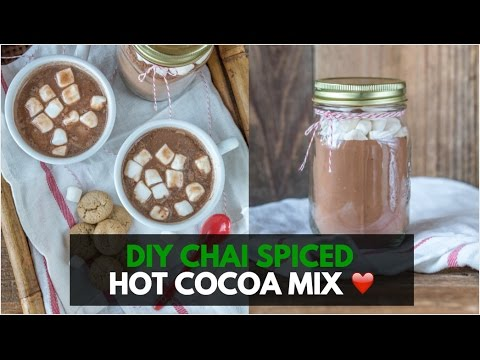 Vegan Chai Spiced Hot Cocoa Mix DIY Holiday Gift In A Jar   VLOGMAS Day 5
