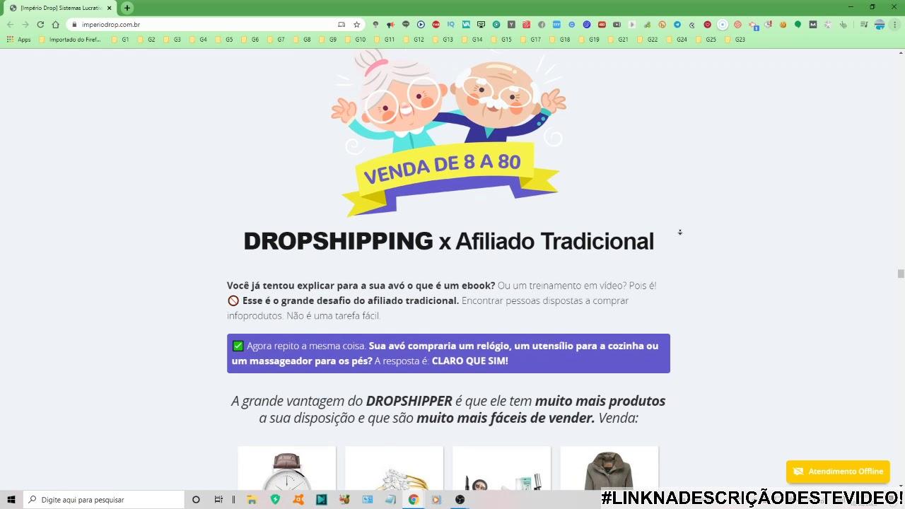 império do drop - sistemas lucrativos em 60 segundos  com Fernando nogueira