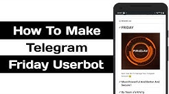 How To Create Telegram Friday Userbot
