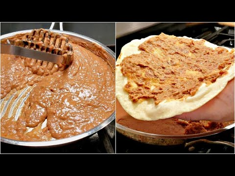 How To Make Refried Beans | Refried Beans Recipe | REFRIED BEANS FOR TACOS