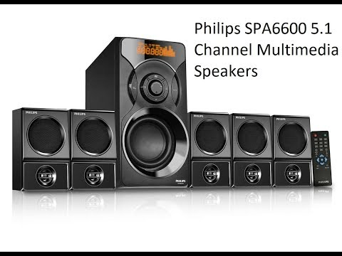 Philips SPA6600 5.1 Channel Multimedia Speakers System