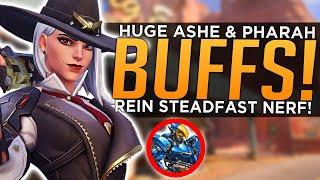 Overwatch: HUGE Ashe & Pharah BUFFS! - Reinhardt Steadfast NERF!