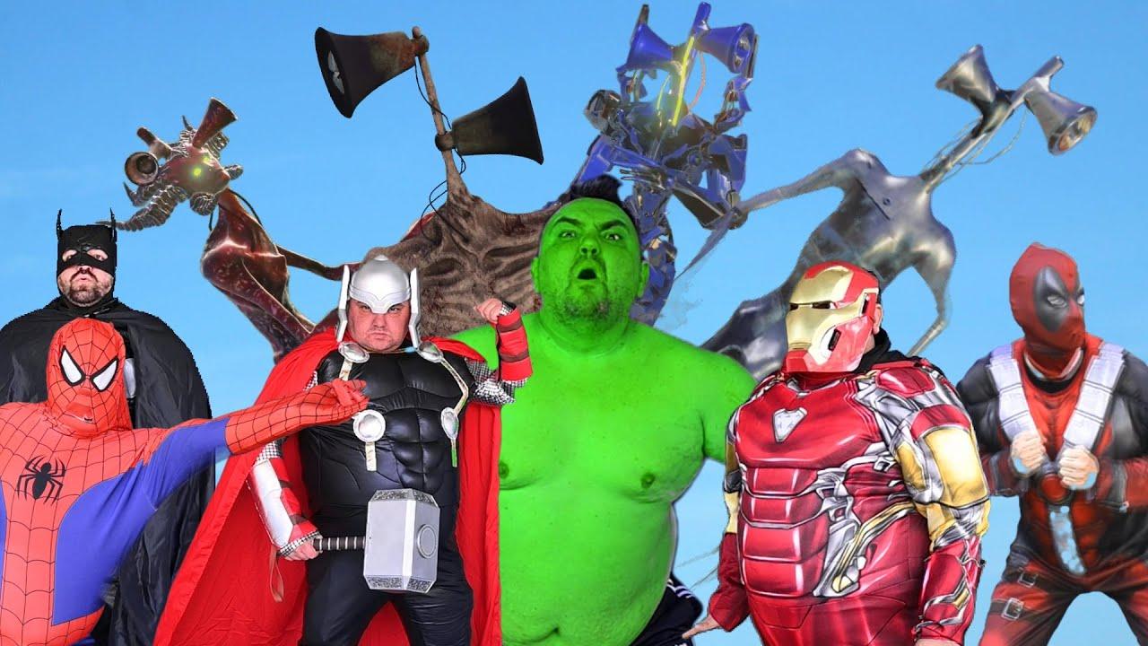 Superheroes VS Siren Head Shapeshifter