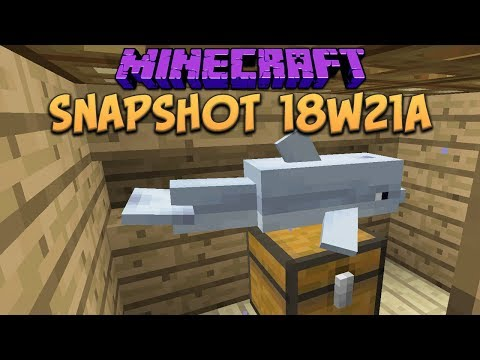 Minecraft 1.13 Snapshot 18w21a Dolphins Lure You To Treasure?