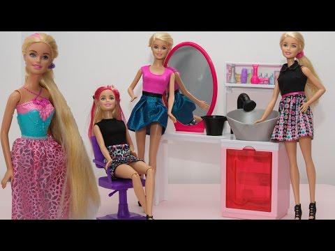 Салон красоты Барби Делаем прически кукле