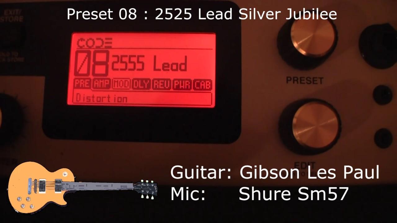 Marshall sound samples.