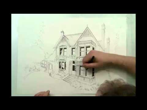 Diễn họa kiến trúc bằng bút kim