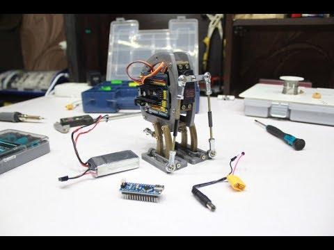 Простой шагающий робот на Ардуино своими руками| 3D печать