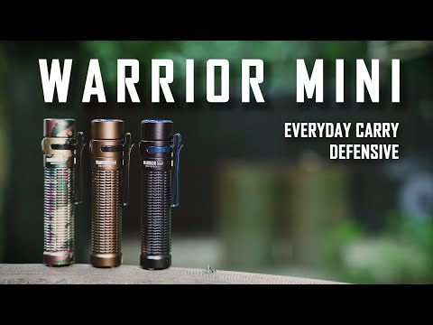 Senter Olight Warrior Mini 1500 Lumens - Everyday Carry Defensive