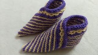 Knitting Kids Shoes, Booties Very Easy.आसान बुनाई बच्चो के बूट ,शूज