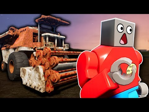 GHOST COMBINE HARVESTER SURVIVAL! - Brick Rigs Multiplayer Gameplay