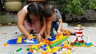 Trò Chơi Xếp Hình Tàu Cá ❤ ChiChi ToysReview TV ❤ Đồ Chơi Trẻ Em Baby Doli Song