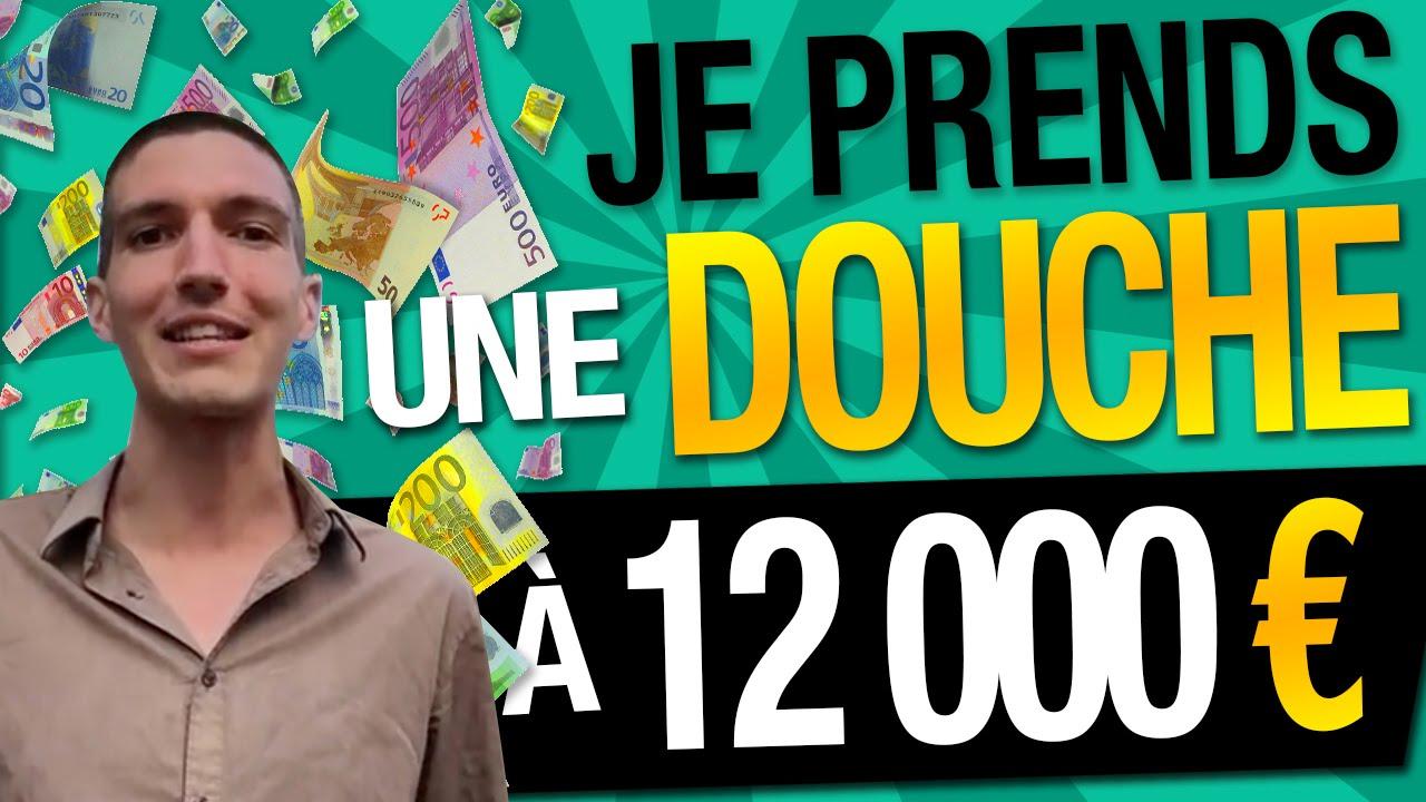 MOTIVATION : Je prends 1 DOUCHE à 12 000 EUROS avec 1 GROSSE LIASSE de VRAIS BILLETS !