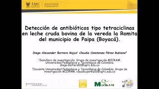 Detección de antibióticos tipo tetraciclinas en leche cruda bovina de la vereda La Romita Paipa, Boy